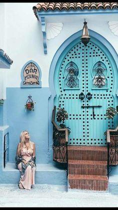 La ville bleu Chefchaouen Morocoo (mon pays)