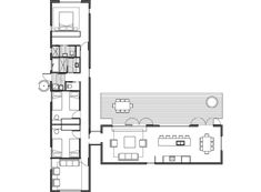 - House Plans, Home Plan Designs, Floor Plans and Blueprints Prefabricated Houses, Prefab Homes, Modern House Plans, House Floor Plans, L Shaped House Plans, Secret House, Weekend House, Solar House, Shed Homes