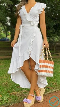 Cute Dresses, High Low, Like4like, Wrap Dress, White Dress, Outfits, Boutique, Belize, Instagram Posts