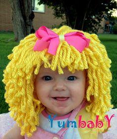 diy yarn wig sewing pattern halloween costume wig tutorial pdf e pattern for children and adult fantasy ideas wigs pinterest yarn wig