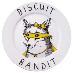 'Biscuit Bandit' Side Plate - Jimboart