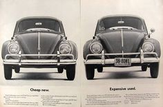 1962 Volkswagen Beetle Ad ~ Cheap New, Expensive Used