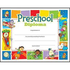 Preschool certficate
