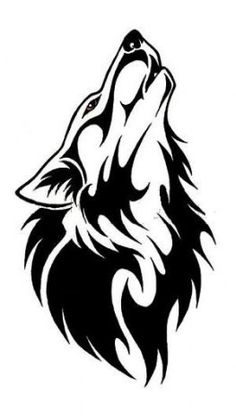 simple wolf head outline Wolf Tattoos - Tattoo Me Now Wolf Silhouette, Lobo Tribal, Tribal Art, Wolf Tattoo Design, Tattoo Designs, Wolf Tattoos, Wolf Tattoo Tribal, Tribal Animal Tattoos, Tribal Drawings