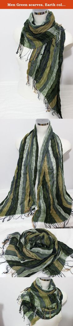 Men Green scarves, Earth colors, Ethnic scarves, Striped scarf men, Green linen scarf, Green biege Gray scarf, Men gift, Men Christmas gift. This beautiful scarf is made from 100 % natural fabrics and organic fabrics Turkey. It is suitable for sensitive skin. It certainly does not allergies. Admire the beautiful flowing fabrics. Very harmonious colors and smooth color transitions. Natural wrinkled appearance is very suitable for a bohemian style clothing. With unisex designs and colors…