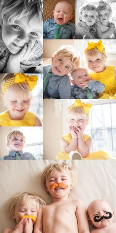 Cute sibling photos - love the mustaches!