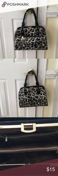 Fashion purse Black and gray print Bags Satchels