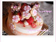 桜のバースデーケーキ / sakura birthday cake!