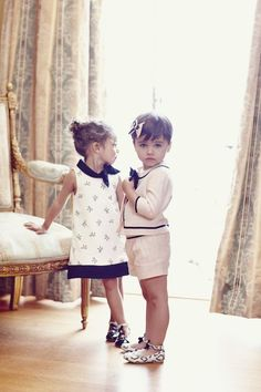 Adorable Bow Boucle Shorts Suit and Bow Dress. Janie and Jack.