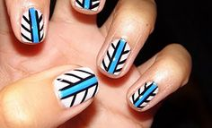 white blue and black tribal