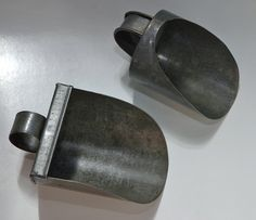 Rare Hand Made Antique Tin Scoops; Circa 1800's