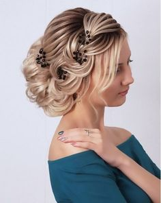 66 modern braids and updos for the wedding - Wedding Hairstyles Bridal Fishtail Braid, Braided Prom Hair, Bride Hairstyles, Cool Hairstyles, Medium Hair Styles, Curly Hair Styles, Peinado Updo, Bridesmaid Hair, Hair Today