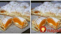"Top hrnčekový dezert: Fantastický koláč ""Broskyňová perinka"" – krehké cesto, ovocie a vanilkový puding! Sweet Tooth, French Toast, Goodies, Pie, Pudding, Cupcakes, Yummy Food, Treats, Cooking"
