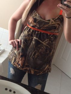 Items similar to Pink realtree, or White Realtree Camo Babydoll Tank Top on Etsy Looks Country, Country Girl Style, My Style, Country Life, Country Wear, Camo Fashion, Girl Fashion, Fashion Ideas, Fashion Clothes