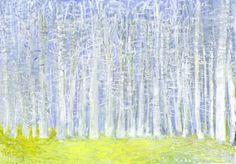 Wolf Kahn - White Woods