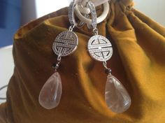 Orecchini argento con quarzo rosa, by GIOBijoux, 30,00€ su misshobby.com