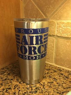 Proud Air Force Mom SIC Cups (Yeti Style) 20 or 30 oz