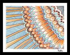 """Greeting Art Card w/envelope, """"Summer Love,"""" by Rielle 5 1/2"""" x 4 1/4"""" on Etsy, $4.99"""