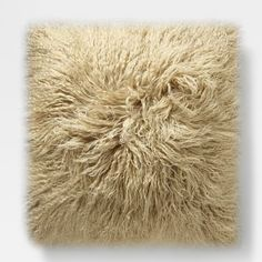 "Mongolian Lamb Pillow Cover - Pebble (24"" Sq.) #westelm Alternate option for the Sofa pillows (large)"