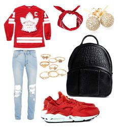 """Untitled #38"" by elisaquaashien ❤ liked on Polyvore featuring Topman, Boohoo, NIKE, Loushelou, Alexander Wang and Mudd"