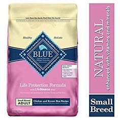 Buy Blue Buffalo Life Protection Formula Small Breed Dog Food – Natural Dry Dog Food for Adult Dogs – Chicken and Brown Rice – 15 lb. Large Breed Dog Food, Large Dog Breeds, Small Breed, Small Dogs, Blue Dog Food, Chicken And Brown Rice, Grain Free Dog Food, Dog Food Brands, Wet Dog Food