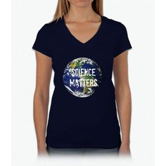 Science March Womens V-Neck T-Shirt