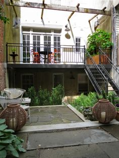 """Sneak Peek: A Hidden Garden in the Middle of Brooklyn. """"The house gets great sun in the back in the morning, just enough for my fig tree on the deck to be very happy. I sort of felt that an Italian American living in Brooklyn really needed a fig tree. My grandmother had one (albeit in New Jersey) — but nothing beats fresh hand picked figs for breakfast."""" #sneakpeek"""
