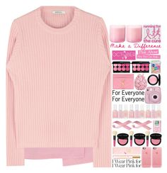"""""""Who Do You Wear Pink For?"""" by tiffanyelinor ❤ liked on Polyvore featuring Casetify, Tory Burch, Bobbi Brown Cosmetics, Essie, Fujifilm, Yves Saint Laurent, Zara Home, MAC Cosmetics, Edward Bess and Pink Vanilla"""