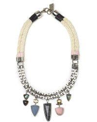 Лиззи Фортунато последнее десятилетие ожерелье серебро - лизатора