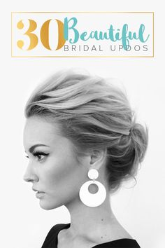 30 Most-Pinned Beautiful Bridal Updos -- Whether the hairstyle you've got in mind for your big day is romantic, glamorous, or dramatic – or even a supremely intricate mix of all three – the updo is definitely a favorite for ultra-feminine bridal beauty.