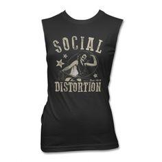 Social Distortion - Sleeveless Cowgirl Tee