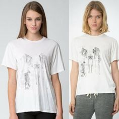 Brandy Melville Diane skeleton shirt In perfect condition. Soft, loose fit tee. Brandy Melville Tops Tees - Short Sleeve
