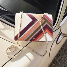 Take a road trip with the @toryburch Convertible Shoulder Bag. Link in bio to shop. #regram #NMhandbags #toryburch #neimanmarcus