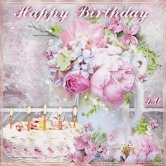 Happy Birthday Wishes Cake, Happy Birthday Photos, Happy Birthday Messages, Birthday Greetings, Happy New Year Cards, Happy B Day, Birthday Name, Name Day, Good Morning Gif
