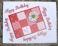 Red and White Patchwork Birthday