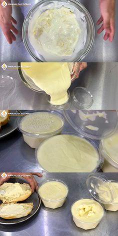 REQUEIJÃO CASEIRO DE 2 INGREDIENTES #requeijaocaseiro #requeijaode2ingredientes #requeijao #cozinha #receita #receitafacil #receitas #comida #food #manualdacozinha #aguanaboca #alexgranig Milk Recipes, Ice Cream Recipes, Chocolate Recipes, Chocolate Cake, Pastry Cake, Griddle Pan, Vanilla Cake, Low Carb, Pudding