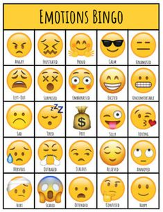 Use this resource with your students to discuss different emotions and encourage expressive language and feelings statements. Included - 10 Unique playing cards - 25 Cue cards with various emotions and their definitions. Emotions Game, Emotions Preschool, Feelings And Emotions, Emotions Cards, Therapy Games, Therapy Activities, Coping Skills, Social Skills, Unique Playing Cards