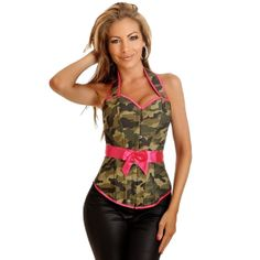 4c27f81fe2b2a cute Pink Camo, Women's Camo, Army Camouflage, Camo Outfits, Pink Corset,