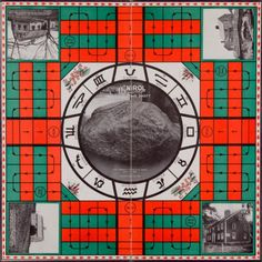 The Pilgrim's Party board game, c1920. It was released to commemorate the 300 year anniversary of the pilgrim's landing on Plymouth Rock (hence the center of the board).