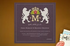 Royal Monogram Wedding Invitations by Griffinbell Studio at minted.com
