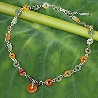 Jade pendant necklace, 'Natural Variety' - $79.99