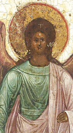 Detailed view: T141. Archangel Michael- exhibited at the Temple Gallery, specialists in Russian icons