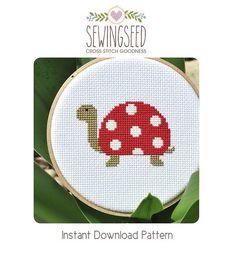 Polka dot Turtle Cross Stitch Pattern Instant por Sewingseed