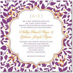 Signature Letterpress Wedding Invitations Autumn Textile : Majestic Designed by: Ellinée for Wedding Paper Divas