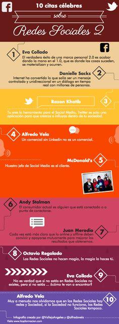 10 citas célebres sobre Redes Sociales 2 #redessociales #community #SocialMedia