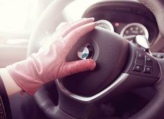 Beemer driven with Gloved Hand Mitten Gloves, Mittens, Pink Gloves, My Style, Wheels, Products, Fingerless Mitts, Pink Mittens, Fingerless Mittens