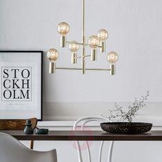 Hængelampen Capital med seks lyskilder #home #lamper #inspiration #nordic #feeling #messing #simpelt #design #lampegiganten