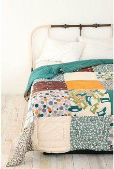 swedish landscape patchwork quilt by melva