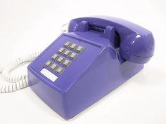 Vintage telephone purple push button phone by ohiopicker on Etsy, $58.00