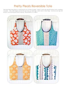 Pretty Pleats Tote Pattern  PDF Sewing by PaisleyPearQuilts, $8.50